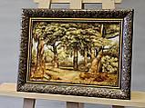 """Картина пейзаж из янтаря """"Дубы """" 20x30 см, фото 2"""