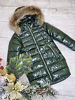 Теплая зимняя куртка на девочку рост 128-152, фото 1