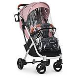 Детская прогулочная коляска книжка детская коляска люлька универсальная El Camino Yoga II M 3910 Pale Pink-W, фото 2