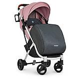 Детская прогулочная коляска книжка детская коляска люлька универсальная El Camino Yoga II M 3910 Pale Pink-W, фото 3
