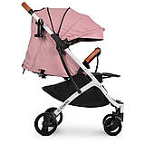 Детская прогулочная коляска книжка детская коляска люлька универсальная El Camino Yoga II M 3910 Pale Pink-W, фото 6