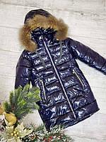Зимняя куртка модная на девочку рост 128-152, фото 1
