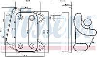 Масляный радиатор Jeep Grand Cherokee WJ CHRYSLER  NISSENS 90622