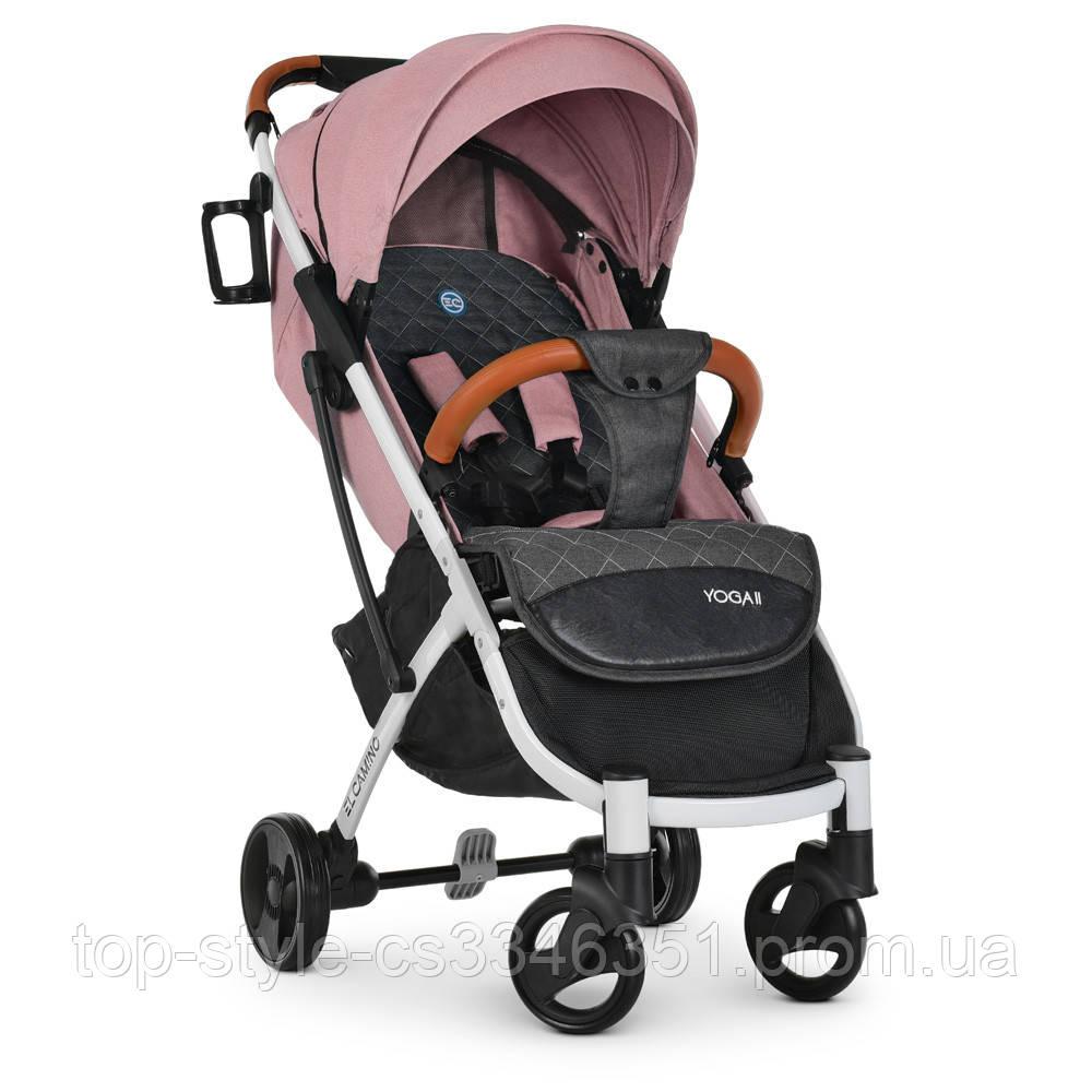 Детская прогулочная коляска книжка детская коляска люлька универсальная El Camino Yoga II M 3910 Pale Pink-W