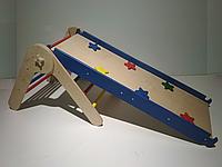 Детский спортивный развивающий комплекс Треугольник Пиклера малый с горкой-скалолазкой цветной в дом