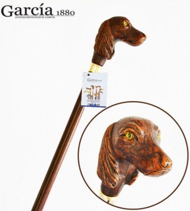 Трость Artes, древесина бука, рукоять в виде головы собаки Garcia 540