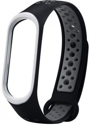 Ремешок для Xiaomi Mi Band 3/4 Black-Gray Nike