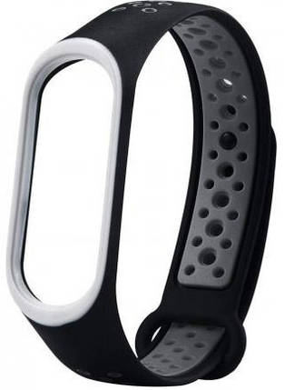 Ремешок для Xiaomi Mi Band 3/4 Black-Gray Nike, фото 2