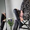 Ботфорты женские кожаные черные на каблуке зимние, фото 3