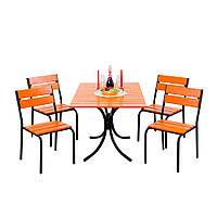 """Комплект садовой мебели """"Рио Плюс"""" стол (120*80) + 4 стула Тик, фото 1"""