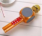 ОПТ Беспроводной караоке микрофон колонка со цветомузыкой SQone 1816 Золотой, фото 3