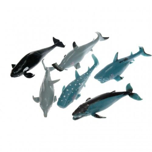 """Морские животные, Гонконг тянучка 7,5-9"""", 6 видов, A026P"""