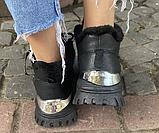 Кроссовки зимние женские черные, фото 2