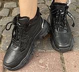 Кроссовки зимние женские черные, фото 3