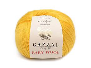 Gazzal Baby Wool, желтый №812