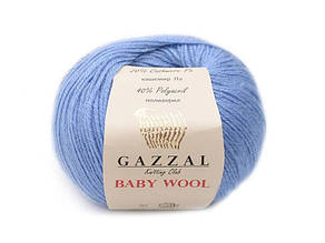 Gazzal Baby Wool, голубой №813