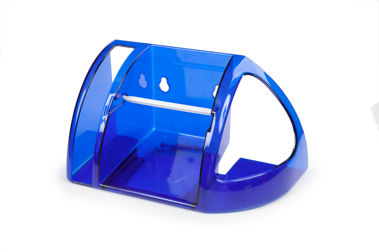 Полка для туалета Berossi синяя полупрозрачная