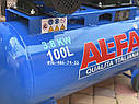 Компрессор воздушный Al-Fa ALC100-2R масляный 100л 660л/мин ременной, фото 4