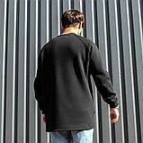 Мужской свитшот South Oversize black, черный свитшот оверсайз, фото 4