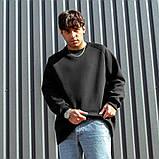 Мужской свитшот South Oversize black, черный свитшот оверсайз, фото 5