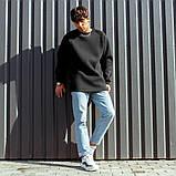 Мужской свитшот South Oversize black, черный свитшот оверсайз, фото 2