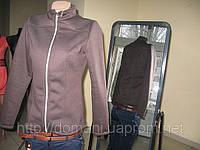 Куртка-толстовка на флисе темно-коричневая 46-48