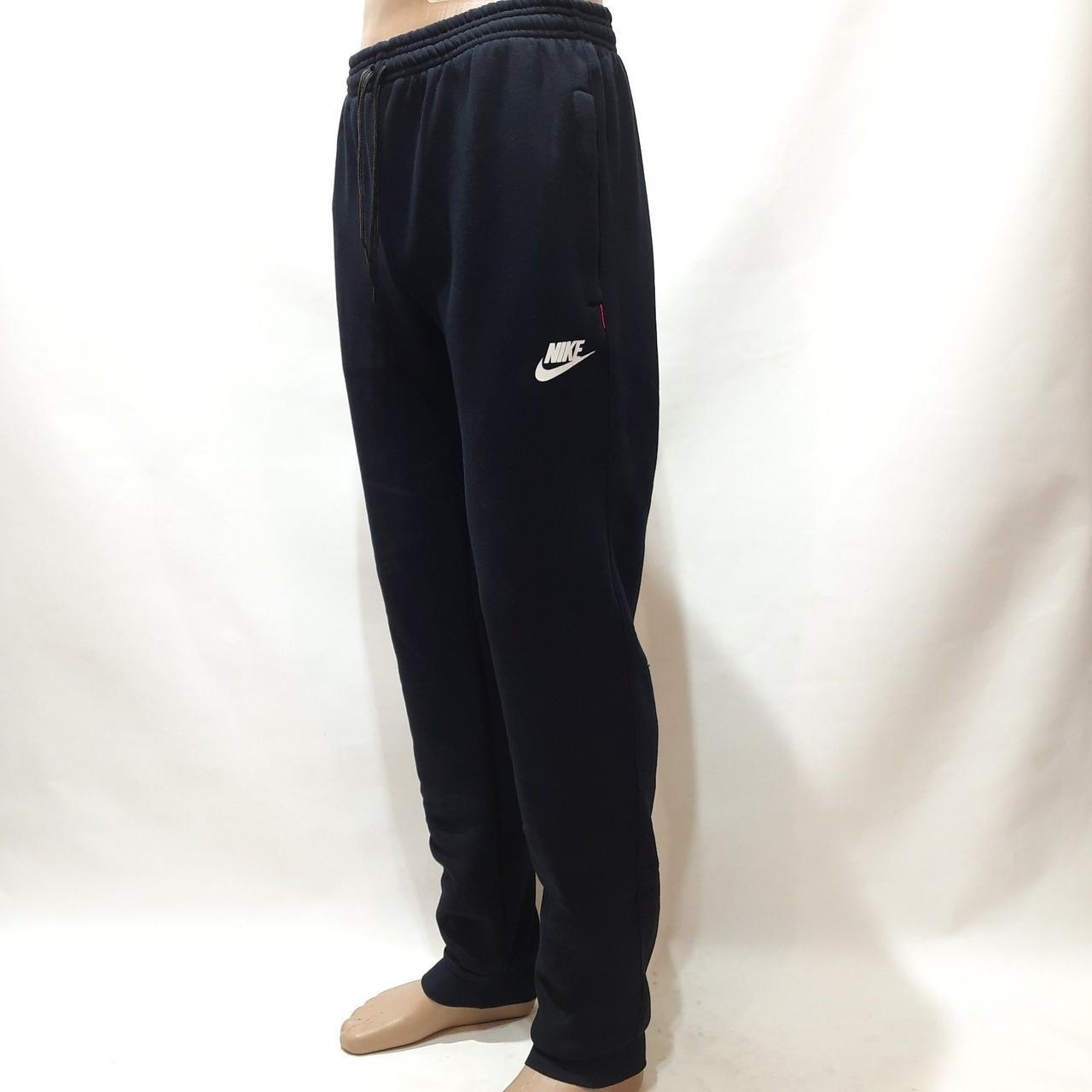 Мужские спортивные штаны теплые на манжете Темно-синие