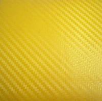 Пленка карбон 3d CF желтый с микроканалами 100х152 см.