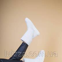 Женские полусапожки кожаные белые 36, фото 3