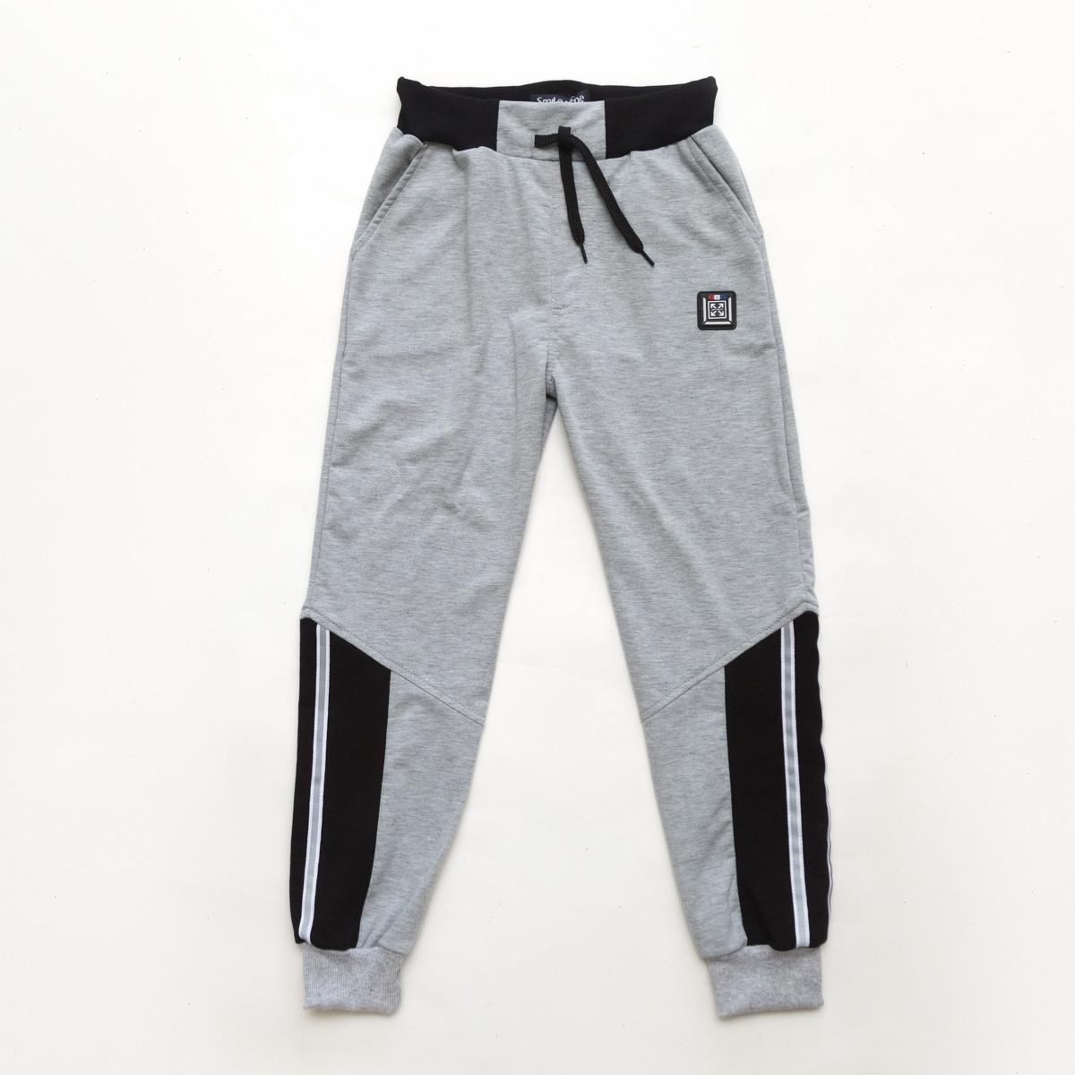 Спортивные штаны для мальчика р.128,134,140,146,152,158 SmileTime Reflective, серые