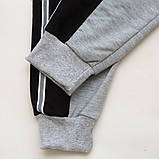 Спортивные штаны для мальчика р.128,134,140,146,152,158 SmileTime Reflective, серые, фото 5