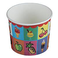 Бумажный контейнер для мороженого (280 мл) (25 шт в упаковке)