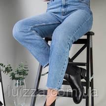 Ботинки женские кожа питон черные на резинке, фото 2