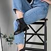 Ботинки женские кожа питон черные на резинке, фото 3