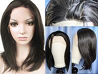 Парик боб каре русый на сетке из термоволос, имитация кожи головы (KJ0067)