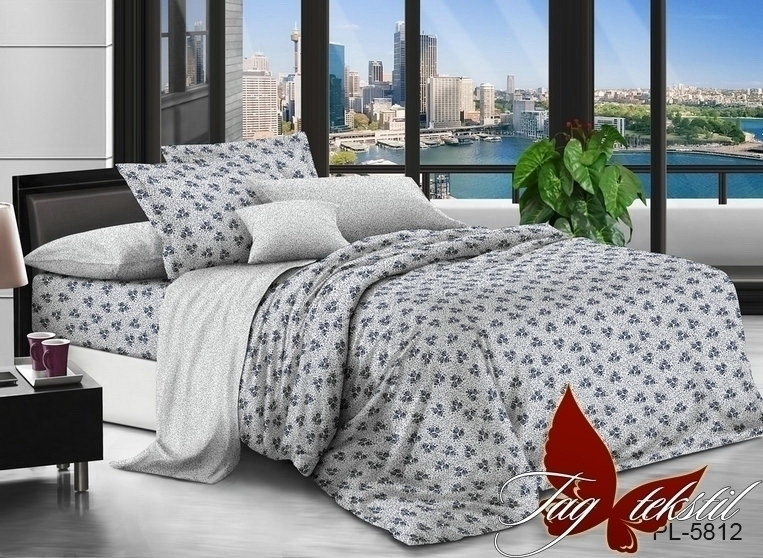 Семейный комплект постельного белья поплин с компаньоном PL5812