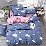Полуторный евро комплект постельного белья R4145, фото 2
