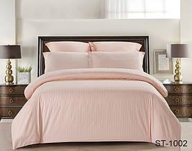 Полуторный комплект постельного белья Страйп сатин ST-1002