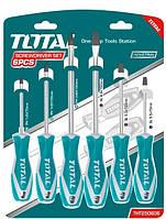 Стандартный набор отверток TOTAL THT250606, набор ручных инструментов столярно-слесарных для дома, 6 шт