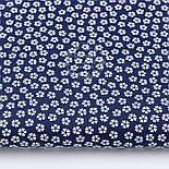 "Лоскут ткани""Густые мелкие цветочки"", фон - тёмно-синий, №2971а,размер 29*80 см, фото 2"