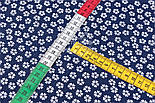 "Лоскут ткани""Густые мелкие цветочки"", фон - тёмно-синий, №2971а,размер 29*80 см, фото 5"