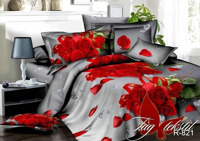 Полуторный комплект постельного белья Ранфорс R821