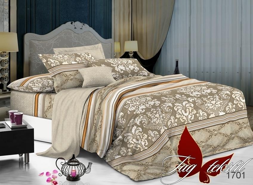 Семейный комплект постельного белья поплин с компаньоном 1701