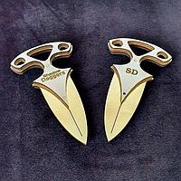 Деревянный нож Теневой Кинжал золотой, фото 1