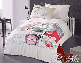 Полуторный евро комплект постельного белья  R4035