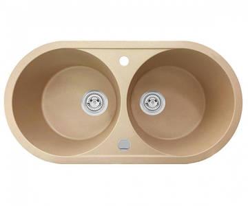 Кухонна мийка + клапан-автомат AXIS PLAY бежева, 1.149.220.20