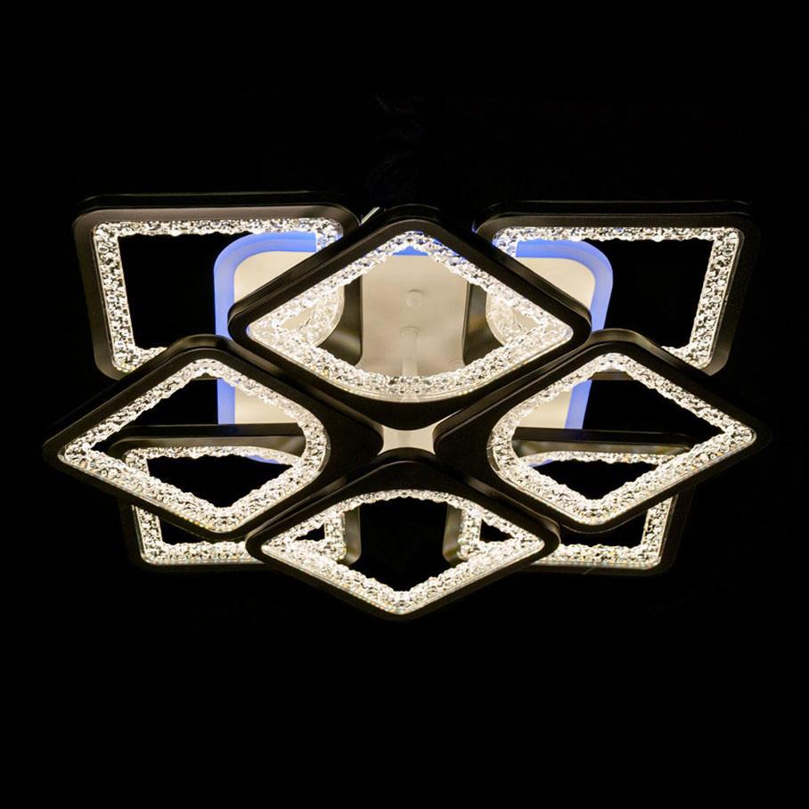 Потолочная светодиодная люстра с пультом диммер цвет серый 130W Диаша&MX2557/4+4S GR LED 3color dimmer