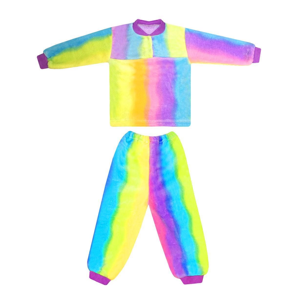 Дитяча кольорова піжама для дівчинки