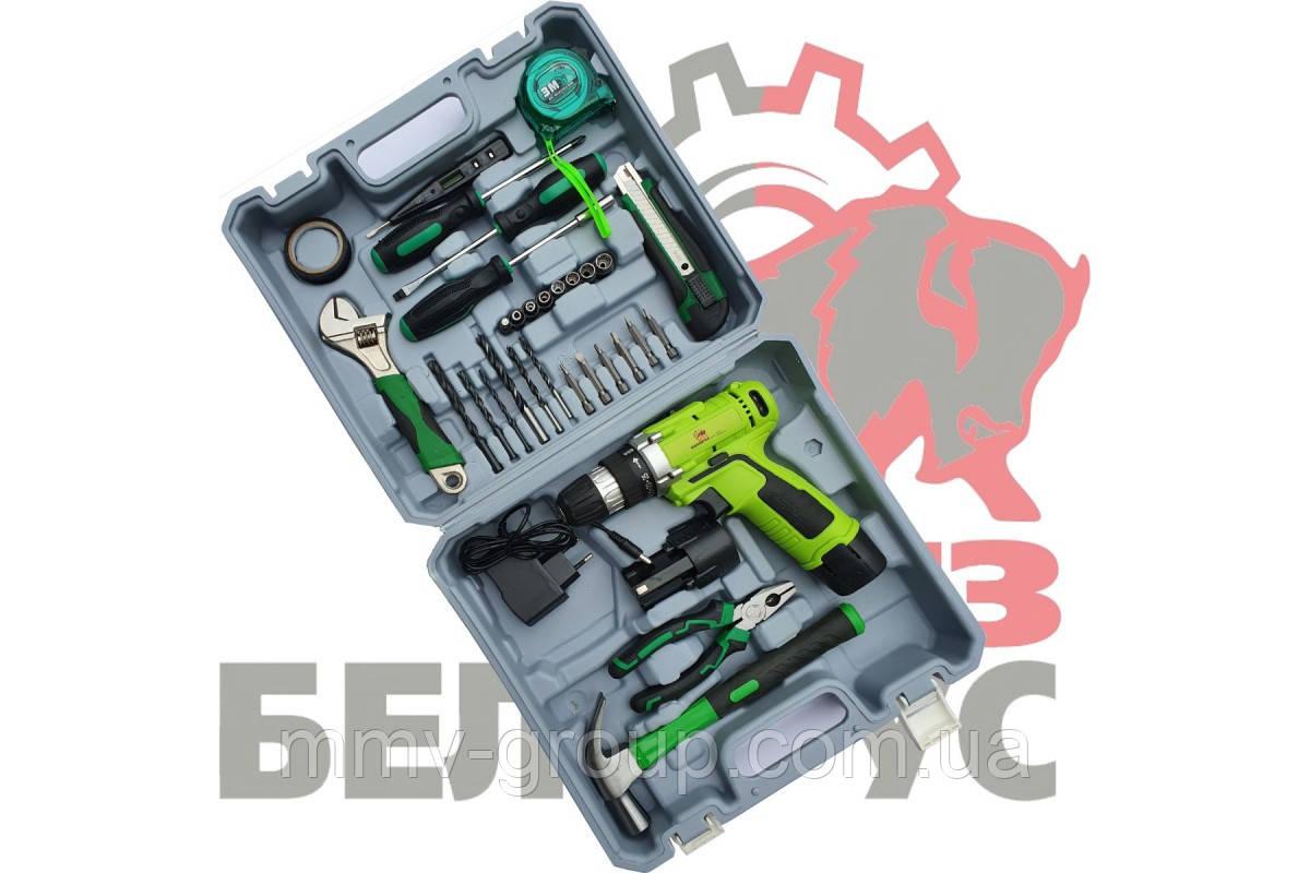 Аккумуляторный шуруповерт Белорус ДА 12-2ЛН (набор инструмента)