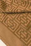 ТМ TAG Полотенце махровое 100 х 150  Labirint темный беж, фото 3